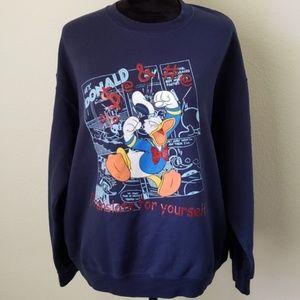 B2G1 VTG Disney Donald Duck Cursing Sweatshirt